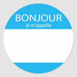 Bonjour je m'appelle French hello tag