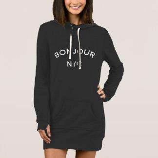 ♛   Bonjour NYC hoodie dress.