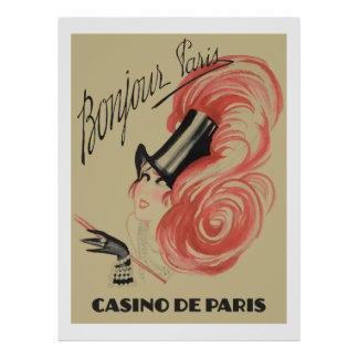 "Bonjour Paris (""Casino de Paris"" vintage ads) Poster"