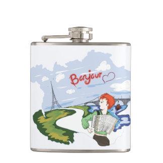 Bonjour Paris Drawing Flasks