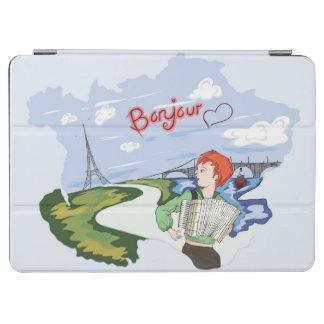 Bonjour Paris Drawing iPad Air Cover