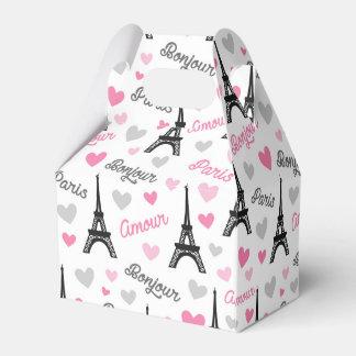 Bonjour Paris pattern party favor box