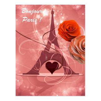 Bonjour Paris! Postcard