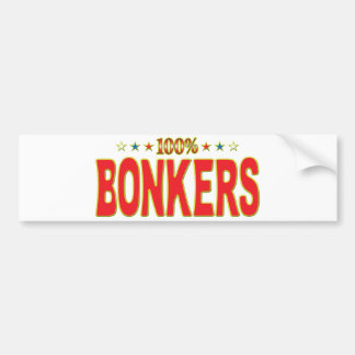Bonkers Star Tag Bumper Stickers