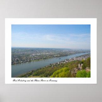 Bonn Bad Godesberg & the Rhine river Poster