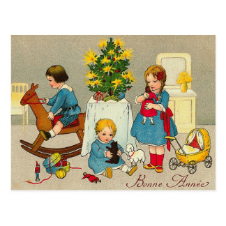 """Bonne Annee"" Postcard"