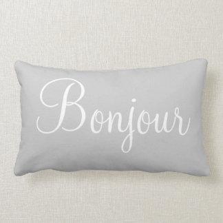 Bonne Nuit Bonjour Decorative Bedroom Accent Lumbar Cushion