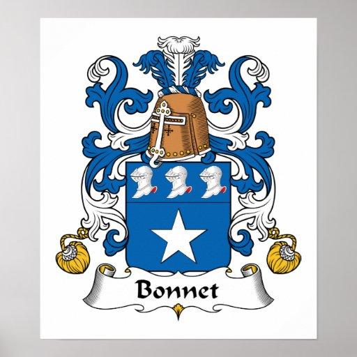 Bonnet Family Crest Poster