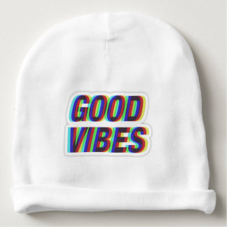Bonnet for cotton baby very soft good vibes baby beanie