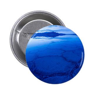 Bonneville Salt Flats In Winter - Utah 6 Cm Round Badge