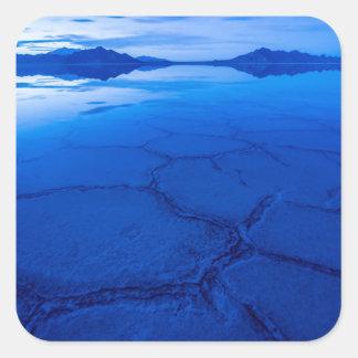 Bonneville Salt Flats In Winter - Utah Square Sticker