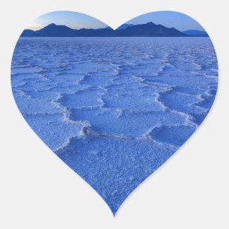 Bonneville Salt Flats Sunset - Utah Heart Sticker