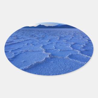 Bonneville Salt Flats Sunset - Utah Oval Sticker