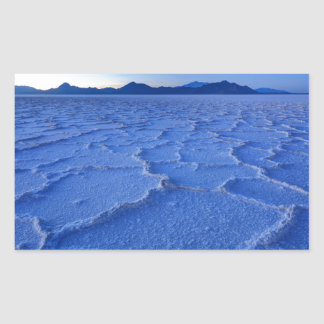 Bonneville Salt Flats Sunset - Utah Rectangular Sticker