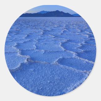 Bonneville Salt Flats Sunset - Utah Round Sticker