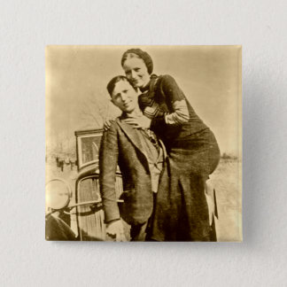 Bonnie and Clyde - The Barrow Gang 15 Cm Square Badge