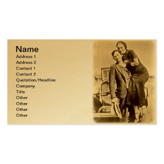 Bonnie and Clyde - The Barrow Gang Double-Sided Standard Business Cards (Pack Of 100)
