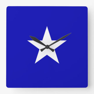 Bonnie Blue Flag Square Wall Clock