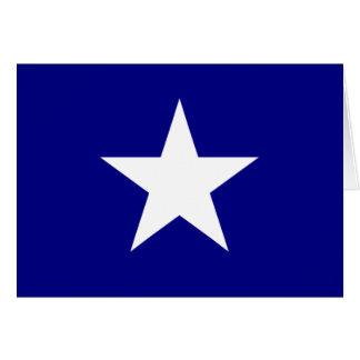 Bonnie Blue Flag with Lone White Star Greeting Car Note Card