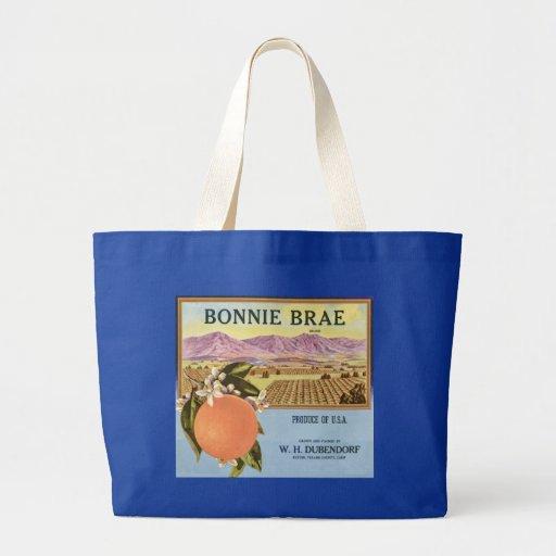 Bonnie Brae Oranges Fruit Crate Label Tote Bag