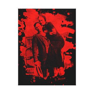 Bonnie & Clyde (bleached look) talk Canvas Print
