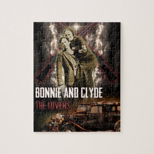 Bonnie & Clyde The Outlaw Lovers Jigsaw Puzzle