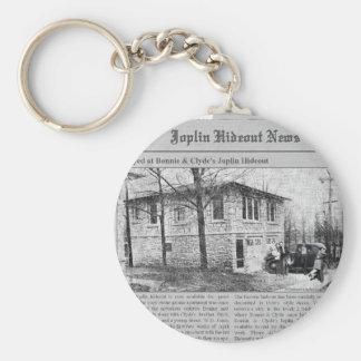 Bonnie & Clyde's Joplin Hideout Key Ring