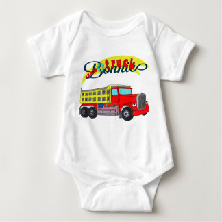 Bonnie construction vehicle bonnet dump truck baby bodysuit