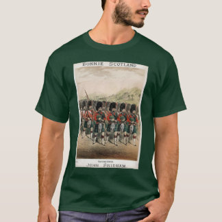 Bonnie Scotland - Bagpipers on Parade T-Shirt