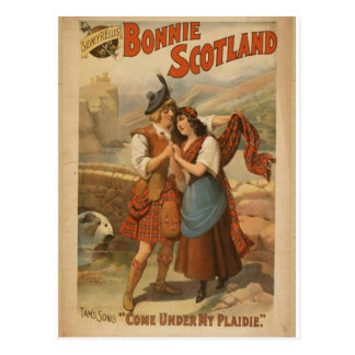 Bonnie Scotland, 'Come Under my Plaidie' Retro The Postcard