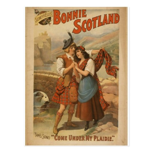 Bonnie Scotland, 'Come Under my Plaidie' Retro The Post Card