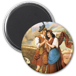 Bonny Scotland 6 Cm Round Magnet