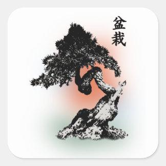 Bonsai 01 square sticker