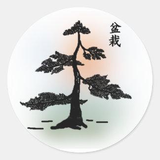 Bonsai 03 classic round sticker