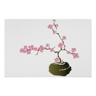 Bonsai cherry tree Poster