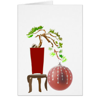 Bonsai Christmas Tree Card