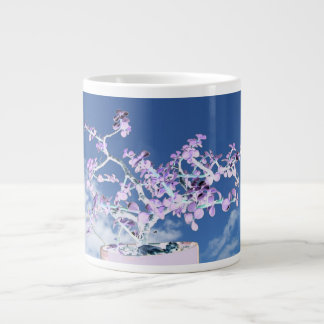 Bonsai inverted purple white against sky portulaca giant coffee mug