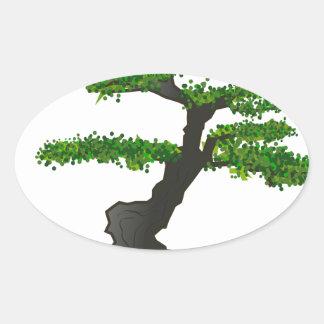 Bonsai Oval Sticker