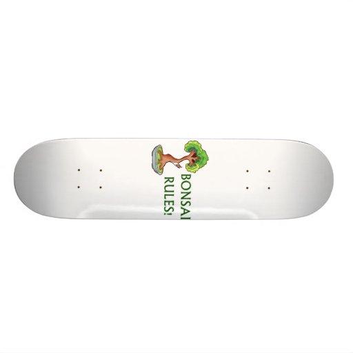 Bonsai Rules Shari Tree Graphic and text design Skate Board Deck