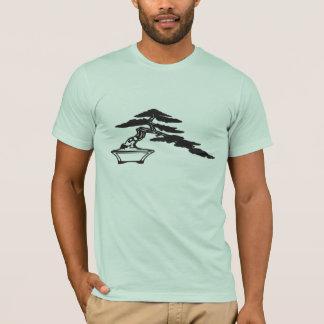 Bonsai silhouette, semi-cascade style (dark ink) T-Shirt