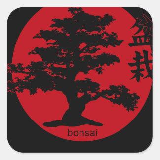 Bonsai Square Sticker