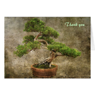 Bonsai Thank you Card