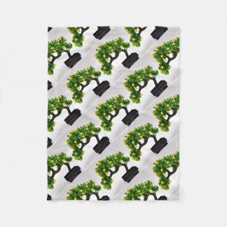 Bonsai tree fleece blanket
