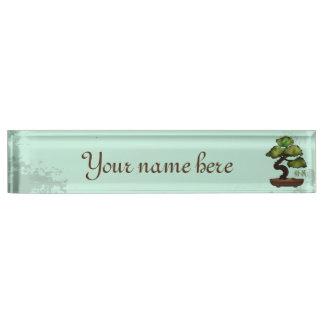 "Bonsai tree ""Growth"" Nameplate"