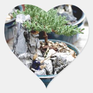 Bonsai Tree Heart Sticker