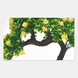 Bonsai tree rectangular sticker