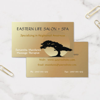 Bonsai Zen Massage Therapist Business Card