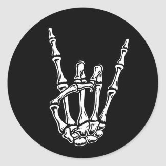 Bony Rock Hand Classic Round Sticker
