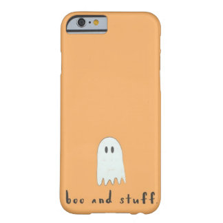 """Boo and Stuff"" Orange Ghost Halloween Barely There iPhone 6 Case"
