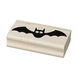 boo bat silhouette art stamp